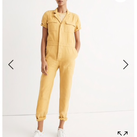 ef09fe5cf8b NWT Madewell Yellow Coveralls Jumpsuit